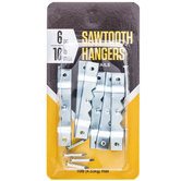 Sawtooth Picture Hangers with Nails